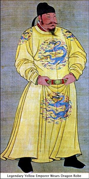 Legendary Yellow Emporer Wears Dragon Robe